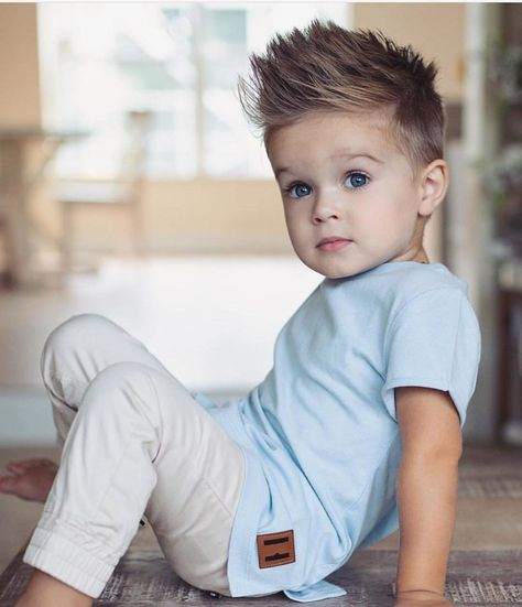 Image may contain: 1 person, sitting baby toddler boy haircuts, baby boy . Toddler Haircuts, Little Boy Haircuts, Toddler Haircut Boy, Trendy Boys Haircuts, Boys Haircut Styles, Boy Haircuts Short, Cute Baby Boy Outfits, Little Boy Outfits, Toddler Boy Outfits