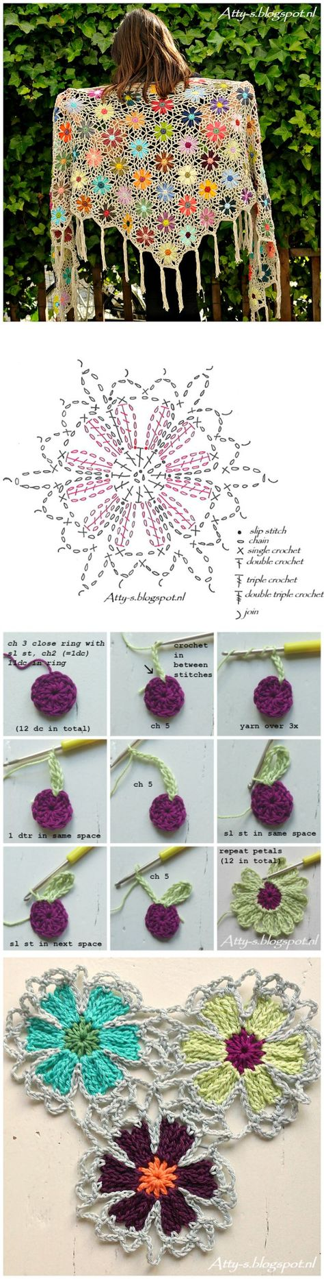 Great crochet motif chart crochet pinterest crochet motif great crochet motif chart crochet pinterest crochet motif chart and crochet ccuart Image collections