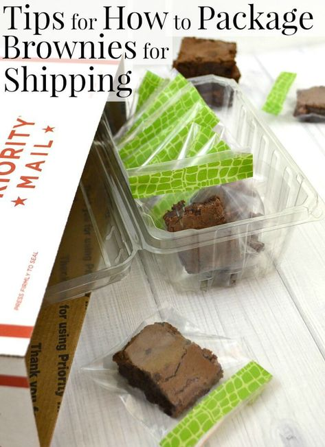 Tips on how to package brownies for shipping will make sure your gift makes it through the mail beautifully. #ClassicInspiredMixes [ad]