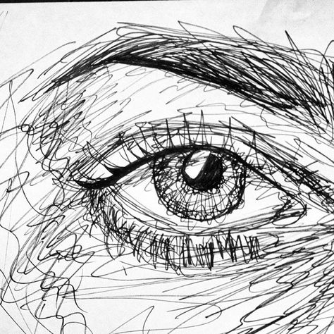 Eye in my new obsession, scribble art Love Drawings, Drawing Sketches, Art Drawings, Pencil Drawings, Arte Grunge, Realistic Eye Drawing, Drawing Eyes, Contour Drawing, Scribble Art