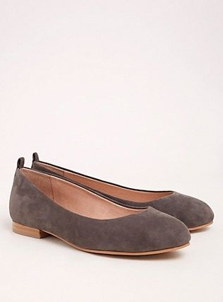 Genuine suede, Almond toe flats