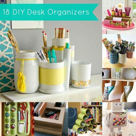 Get it Together: 18 DIY Desk Organizers - diycandy.com