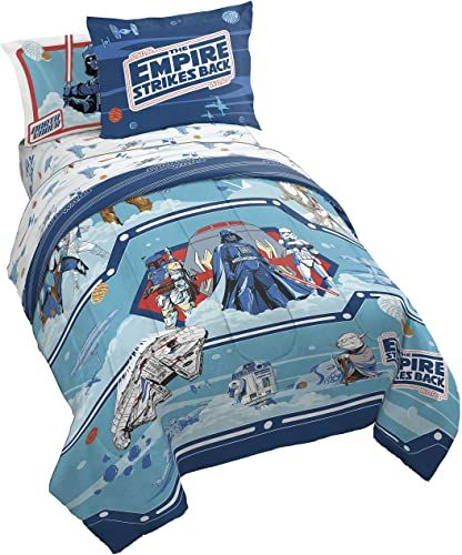 New Jay Franco Star Wars Empire 40th Anniversary 5 Piece Twin Bed