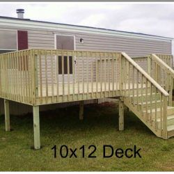 Ready Deck Gallery Ready Decks Mobile Home Porch Mobile Home Landscaping Building A Porch