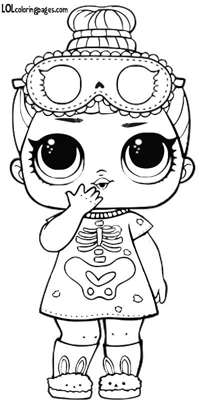 Sleepy Bones Series 3 L O L Surprise Doll Coloring Page Lol