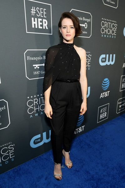 Claire Foy attends the 24th annual Critics' Choice Awards at Barker Hangar.