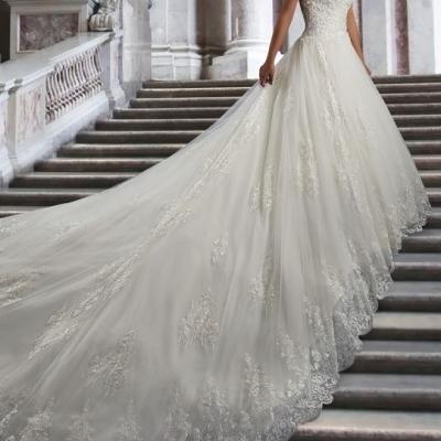 robe de mariée traîne cathédrale princesse