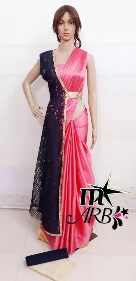 PRE-BOOKING STARTED...... 🥂🥂🥂🥂🥂🥂🥂🥂🥂🥂  SUPER DUPER HIT INTRODUCE  BY                  M-STAR     (INDIA'S NO.1 FASHION)                 PRESENTS  ☆☆☆☆☆☆☆☆☆☆☆☆☆☆☆  *ARB INDO-WESTERN SAREE*                 *Size* :  Free Size (Saree Length - 5.25 metres) Free Size (Blouse Length - 0.80 metres)  FREE SIZE JACKET WITH ELASTIC MADE   *Fabric* : SAREE SATIN N JACKET TEXTURE NET  *Type* : Saree with Blouse piece  *Style* : DESIGNER SAREE  *Design Type* : Bollywood  JACKET SEPARATE FROM SAREE. ITS USED FOR MULTI PURPOSE WITH OTHERS SAREES ALSO. JACKET FULL STITCHED.  GORGEOUS SUPER HIT INDO-WESTERN SAREE FOR ALL FUNCTIONS. ☆☆☆☆☆☆☆☆☆☆☆☆☆☆☆  DISPATCH TIME 5 TO 6 DAYS 🌹🌹🌹🌹🌹🌹🌹🌹🌹 BRAND NEW LAUNCHING ����������