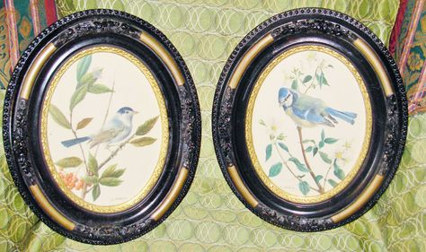 Details About 2 Vintage Frames Oval Photo Frame Picture Home Decor