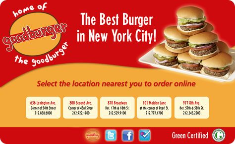 Goodburger The Best Burger in New York City! New York - To Do - hamburger küche restaurant
