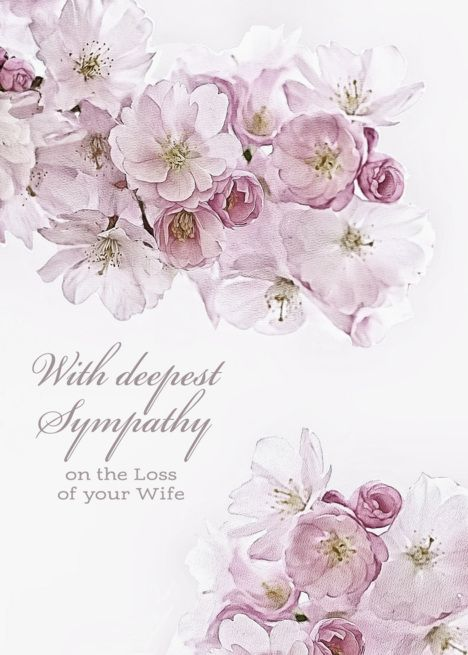 With Deepest Sympathy On The Loss Of Your Wife White Blossoms