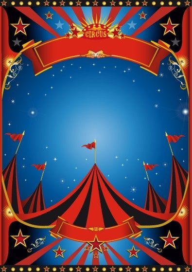 The Circus Vintage Carnival Background Vintage Style Circus Poster Design Vector Free Vector In Encapsu Vintage Circus Posters Circus Poster Carnival Posters