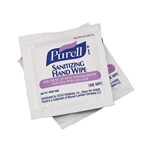 Purell Sanitizing Hand Wipes Individually Single Wrapped
