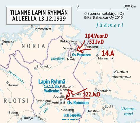 Lapin Ryhma Talvisodan Tietokeskus Tromssa Kartta