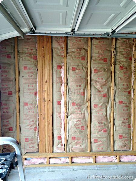 Insulatin And Drywallin Insulating Garage Walls Drywall Installation Garage Insulation