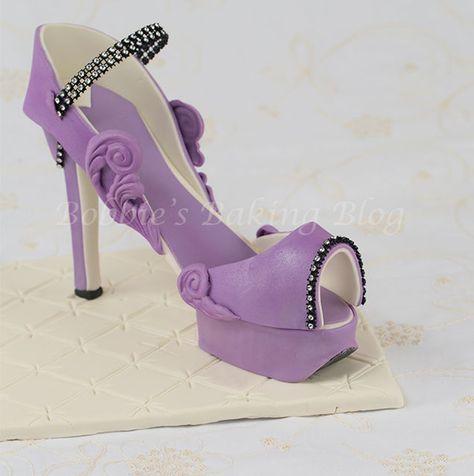 Fondant Purple Passion Platform High Heel Tutorial