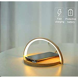 Hqhome Fast Wireless Charger Mit Led Schreibtischlampe 5w 75w 10w Qi Kabelloses Ladestation Induktive Ladegerat Fur Ip Night Light Lamp Lamp Light Night Light
