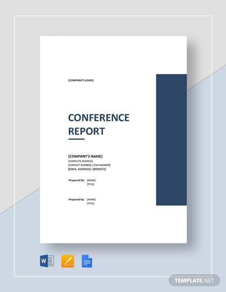 Conference Report Report Template Company Profile Design