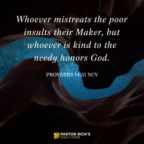 Successful People Help the Poor - Pastor Rick's Daily Hope