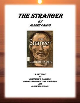 Download And Print The Stranger Unit Plan Aligned With Common Core Standard It Include 68 Page Of Lesson Teache How To Type Essay