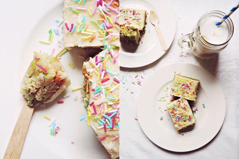 Funfetti Cake - bunter Streuselkuchen