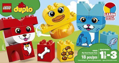 LEGO DUPLO My First Puzzle Pets 10858 Building Blocks (18 Piece) | Walmart Canada