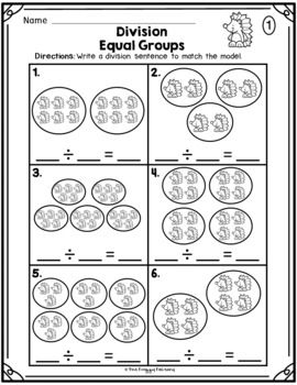 Division Equal Groups Division Worksheets Distance Learning