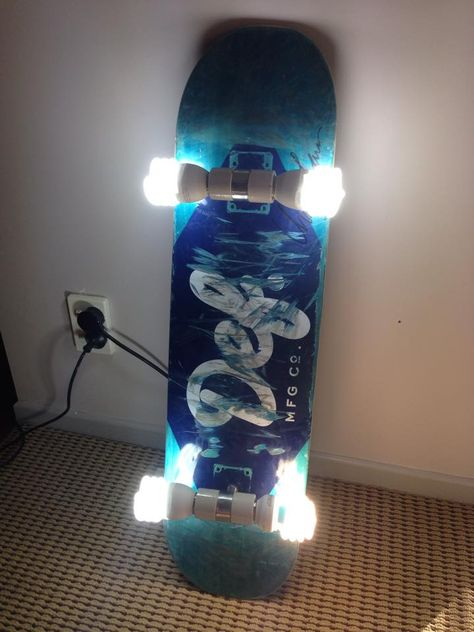 Boredom Led to This DIY Skateboard Chandelier  Reddit | Skateboard,  Chandeliers and Lights