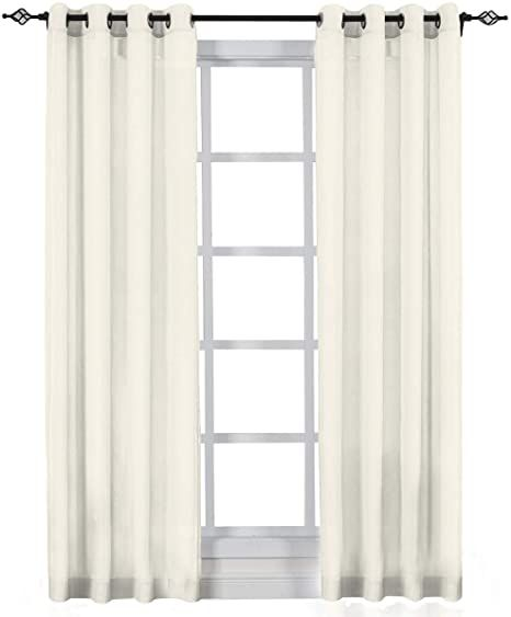Crushed Sheer Curtain Panels, 100 Inch Wide Curtains