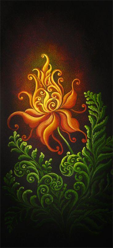 Цветок папоротника рисунок
