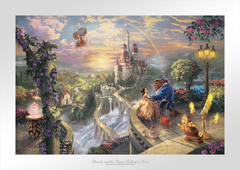 Beauty and the Beast Falling in Love - Limited Edition Paper - 24 x 36 / SN-Unframed