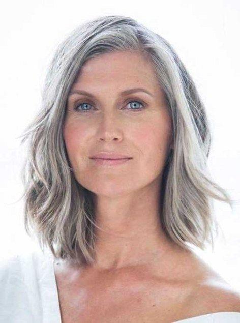 Short Haircuts For Older Women 2018 2019 Long Gray Hair