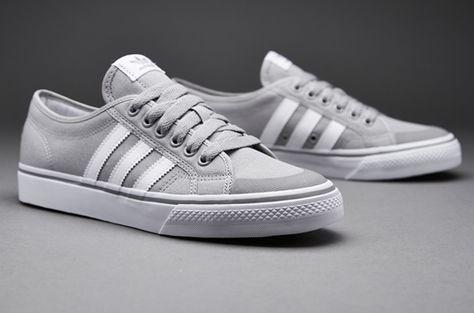 online store 9fd67 9822c Mens Shoes - adidas Originals Nizza Lo - Solid Grey   White   Gum - B35145