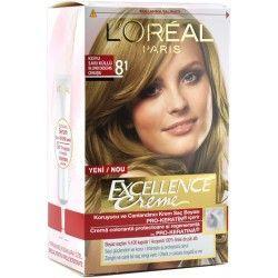 Excellence Sac Boyasi 8 1 Koyu Sari Kullu Dyed Hair Loreal