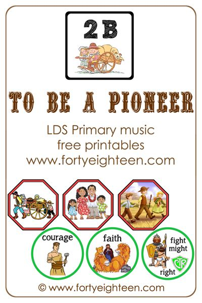It will be ridiculously easy to teach pioneer songs this year with these cute visual aides for To Be A Pioneer #primary #music #pioneer #LDS