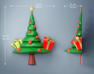 Diy Christmas Tree Papercraft Pdf Template Paperblog Paper Crafts Christmas Tree Template Diy Christmas Tree