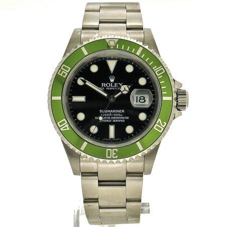 Rolex Submariner 'Kermit' ref. 16610LV (D+P 2009) - Spiegelgracht Juweliers