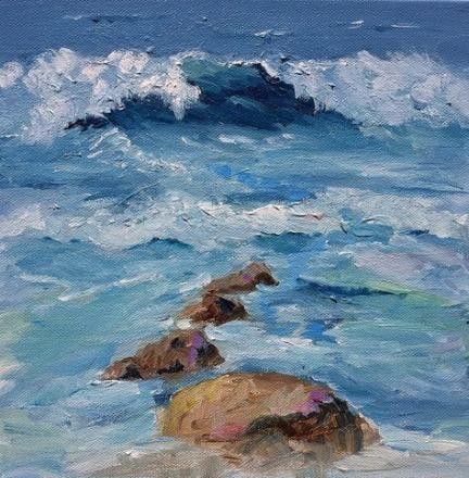 Painting Acrylic Beach Abstract Landscape 67 Ideas Painting Seascape Paintings Landscape Paintings Acrylic Ocean Painting