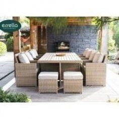 Polyrattan Sitzgruppe Vienna 8 Personen Polywood Rundgeflecht Optik Essellaessel Outdoor Furniture Ideas Backyards Outdoor Deck Furniture Diy Outdoor Furniture