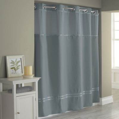 Hookless Escape 71 X 86 Fabric Shower Curtain Liner In Graphite