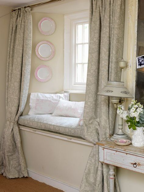 window bench i think this would be fairly easy to have built into a bay window adding a tension curtain rod and curtains would really make it finu2026