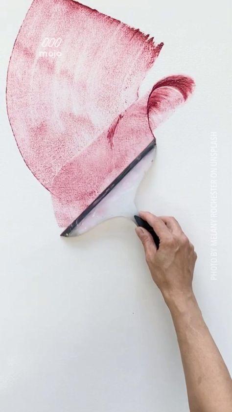 Ganz schnell ein eigenes abstraktes Kunstwerk. Mit simplen Werkzeug
