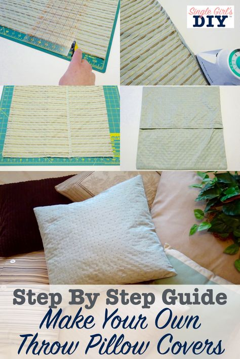 How To Make A Throw Pillow Cover In Six Simple Steps
