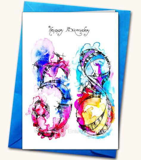 58th Birthday LARGE Greeting Card Personalised By LubaFenwickGifts