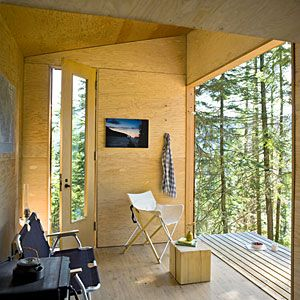 24 inspiring small homes   DIY cabin retreat: Interior   Sunset.com