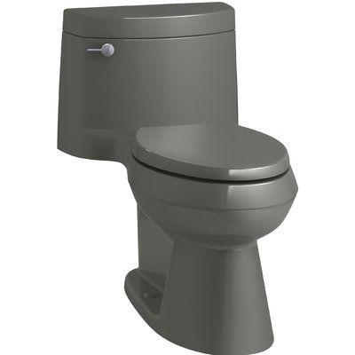 Kohler Cimarron Comfort Height One Piece Elongated 1 28 Gpf Toilet With Aquapiston Flush Technology Concealed Trapway And Lef Kohler Cimarron Kohler Cimarron