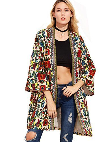Shop Colorful Open Front Outerwear With Tribal Print Tape Detail online. SheIn offers Colorful Open Front Outerwear With Tribal Print Tape Detail & more to fit your fashionable needs.