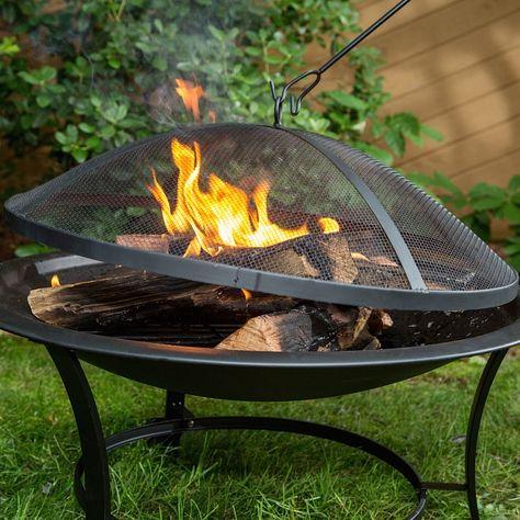 Sun Joe Sjfp30 Outdoor 30 Inch Steel Fire Pit Steel Fire Pit Wood Burning Fire Pit Outdoor Decor