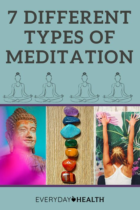 Learn more about the different types of meditation.