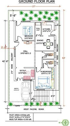 Pin By Jaspal Singh On Places To Visit West Facing House Indian House Plans 2bhk House Plan